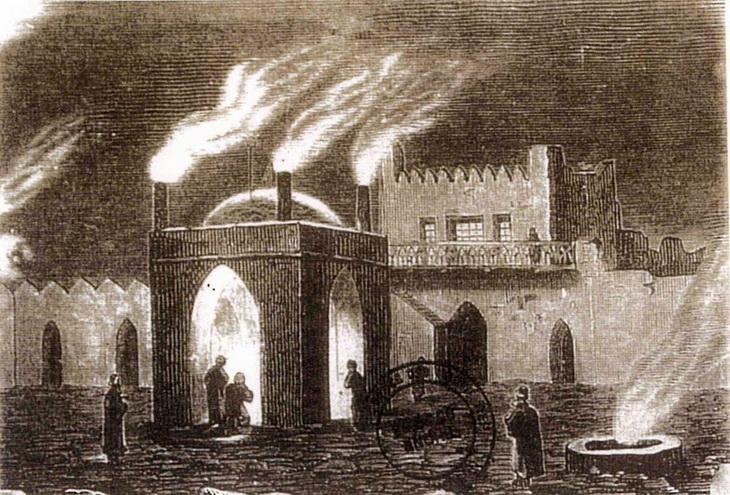 Храм вечного огня Атешгях - исторические фотографии