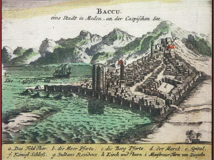 Древний Баку на гравюре 1683 года (ФОТО)