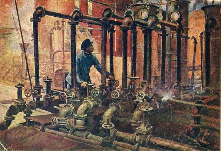 Люди, Баку и нефть на картинах Федора Модорова (13 ФОТО)