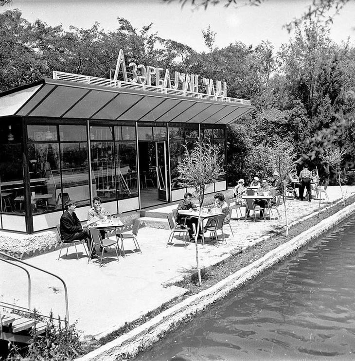 Баку, павильон Азəрбаjҹан чаjы рядом с Венецией, 1974 год