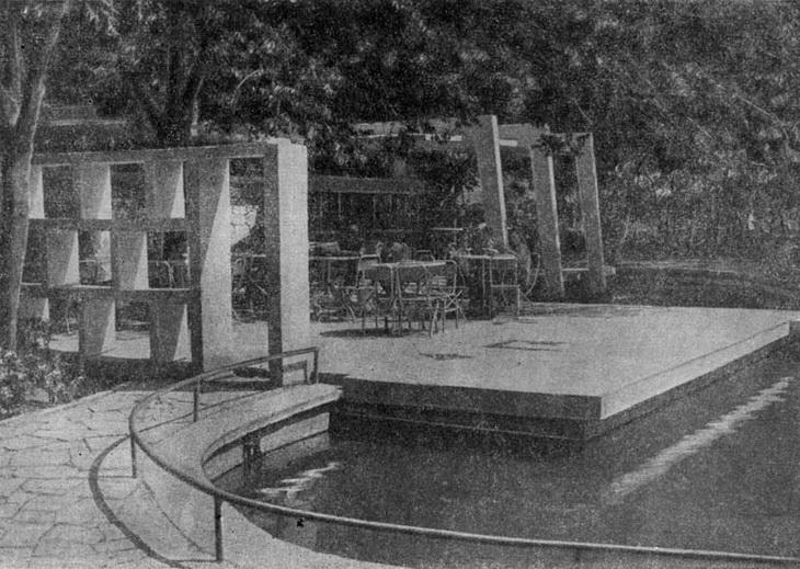 Баку, чайхана в Молоканском садике, 1960 год