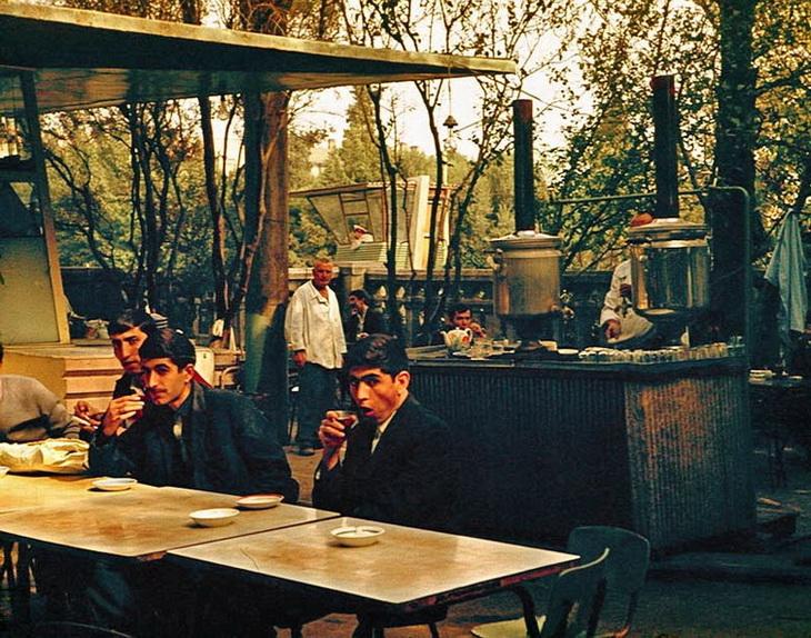 Баку, чайхана с сквере Сабира, фото Анатолия Сироты, 1968 год