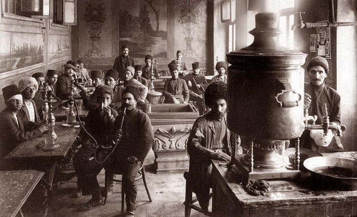 Чайхана в Баку, конец XIX - начало ХХ века.