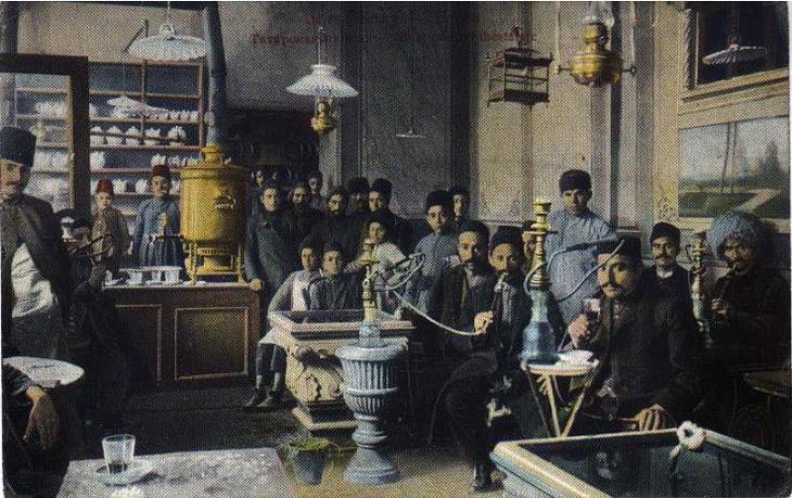 Чайхана в Баку, конец XIX - начало ХХ века