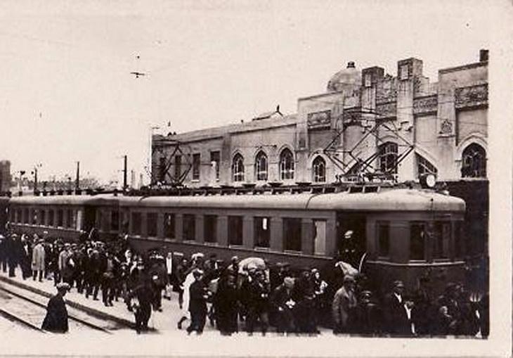 1926-1930. Прибытие электрички на Сабунчинский вокзал 1926
