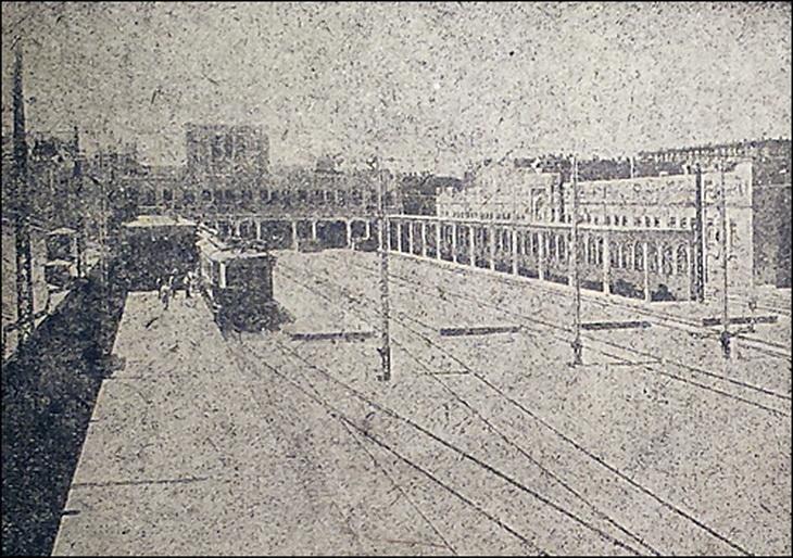 1926-1932. Вокзал в Баку после электрификации дороги