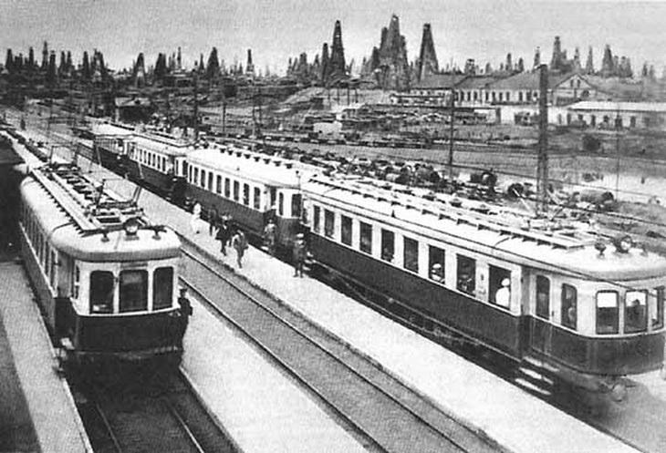 1926. Баку. Электричка Баку- Сабунчи