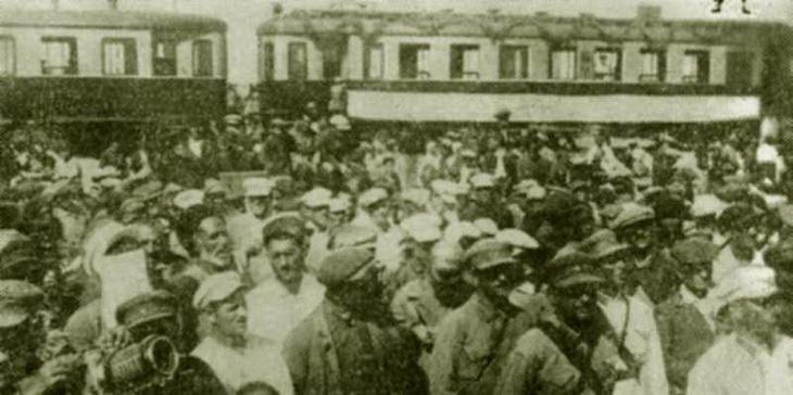 1926. Торжественное открытие движения на электрифицированном участке Баку Сабунчи 6 июля 1926 г.