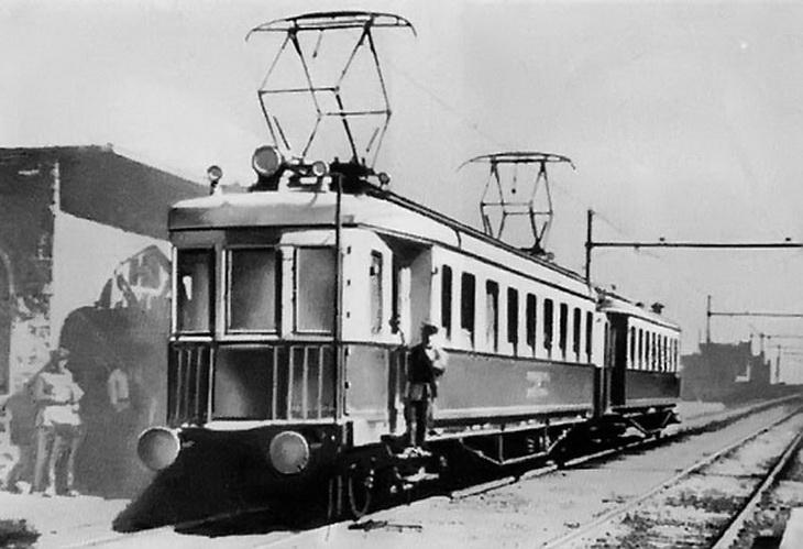1929-1933. Электричка Баку-Сабунчи. Всего два вагона