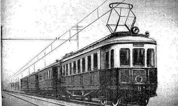 1929-1933. Электричка Баку-Сабунчи.