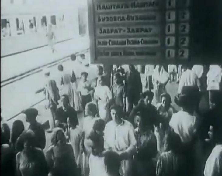 1930-е. Станция электрички Сабунчи