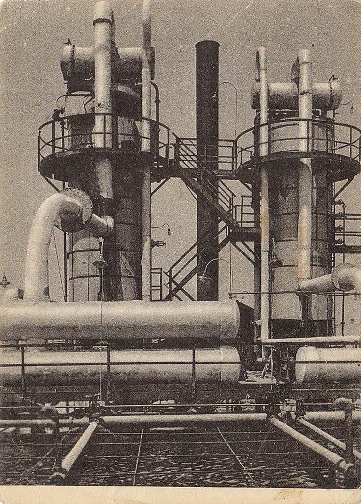 Из серии журнала «СССР на стройке». Новый нефтеперегонный завод