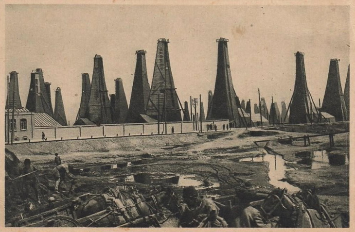 Биби-Эйбат. Открытка 1920-х годов по старому фото 1910-х годов