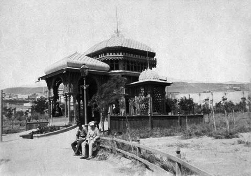 Фото 1895 года. Беседка в Губернаторском саду