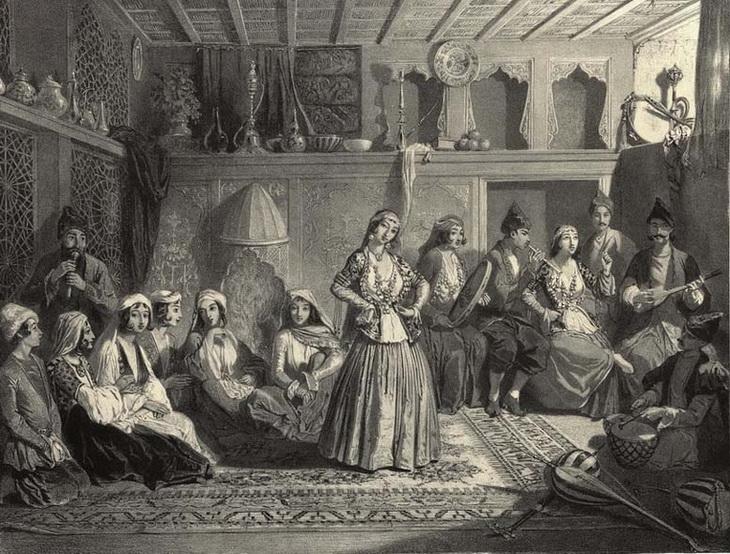1840-1853. Шемахинские баядерки. Танцовщица Ниса.