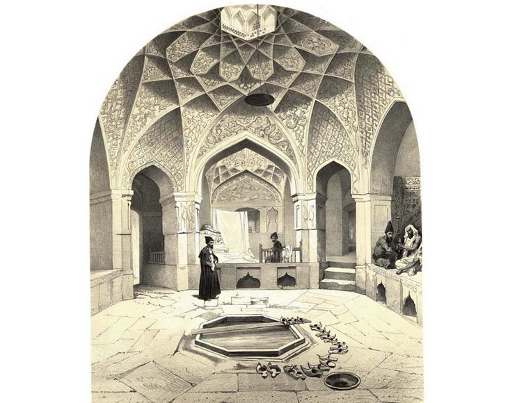 1840-1863. Ширван. Комната отдыха, рядом с ванной Шамахы.