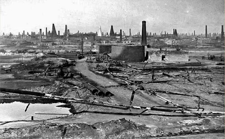 Фото 1900-х годов. Нефтепровод