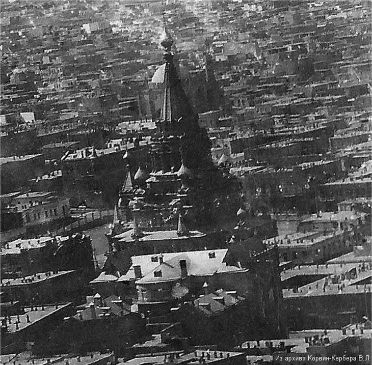 Фрагмент аэрофотосъемки В.Корвина-Кербера 1917-1918 года