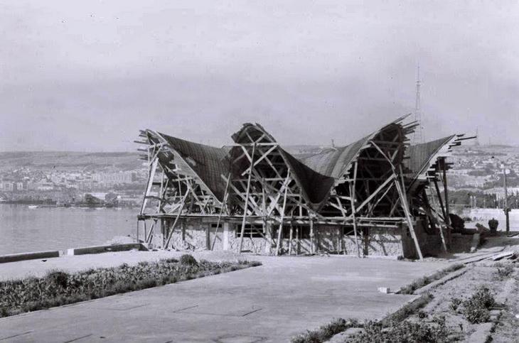 Август 1961 года. Строительство кафе «Жемчужина»