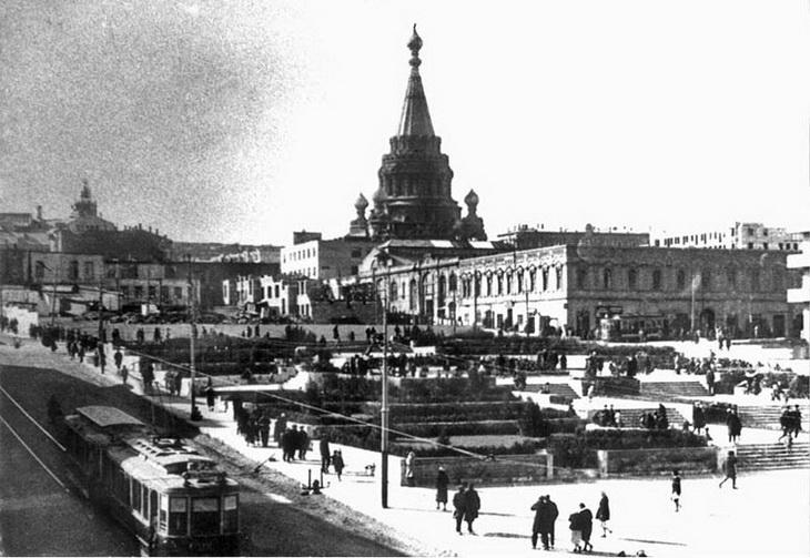 Вид на собор со стороны сада Низами, 1936 год