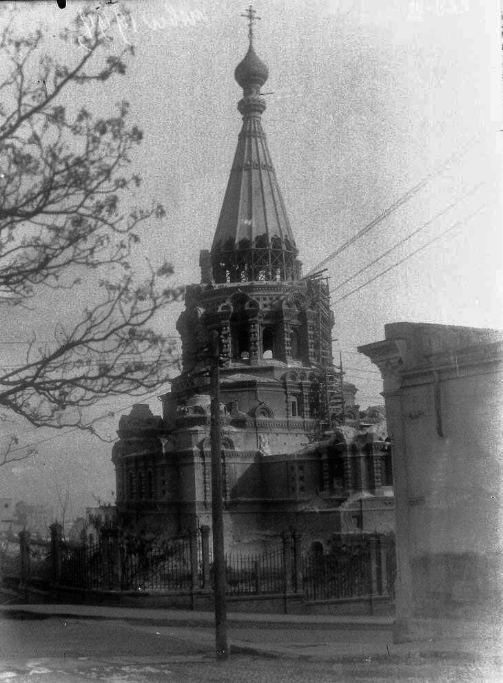 Начало сноса собора, 1937 год