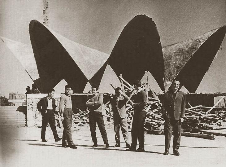 Осень 1961 года. Стрительство кафе «Жечужина» завершается