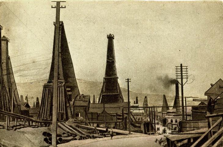 Биби-Эйбат. Открытка 1920-х годов по старому фото 1910-х годов.